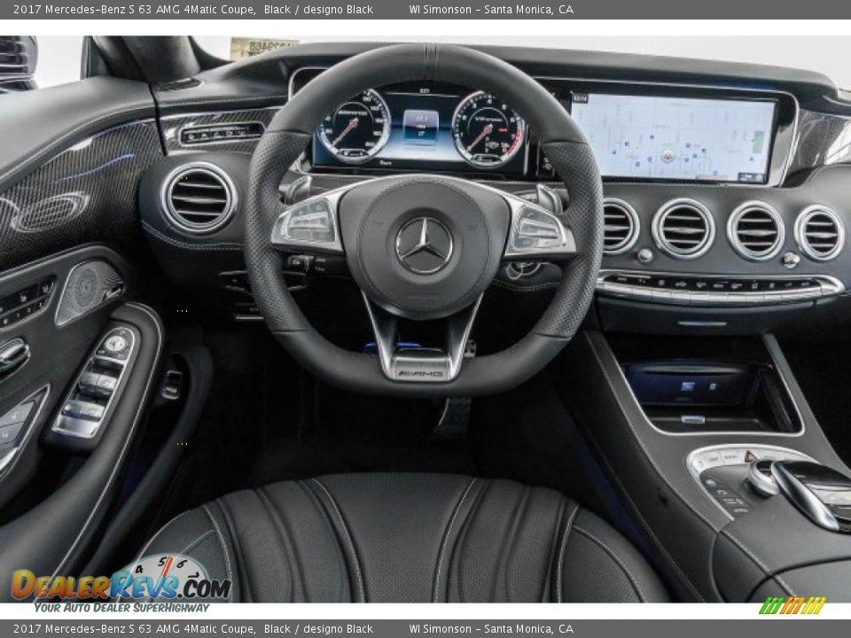 2017 Mercedes-Benz S 63 AMG 4Matic Coupe Black / designo Black Photo #4