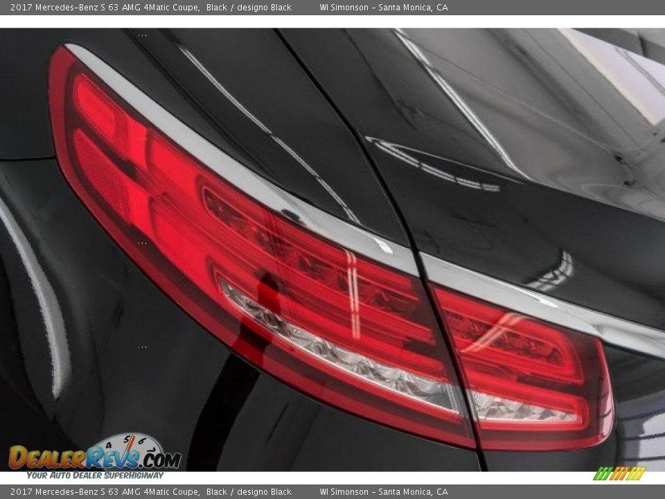 2017 Mercedes-Benz S 63 AMG 4Matic Coupe Black / designo Black Photo #24