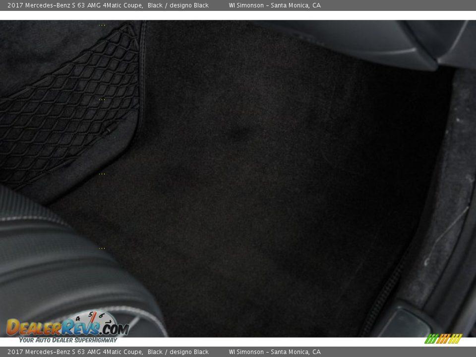2017 Mercedes-Benz S 63 AMG 4Matic Coupe Black / designo Black Photo #27