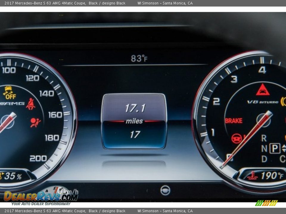 2017 Mercedes-Benz S 63 AMG 4Matic Coupe Black / designo Black Photo #33