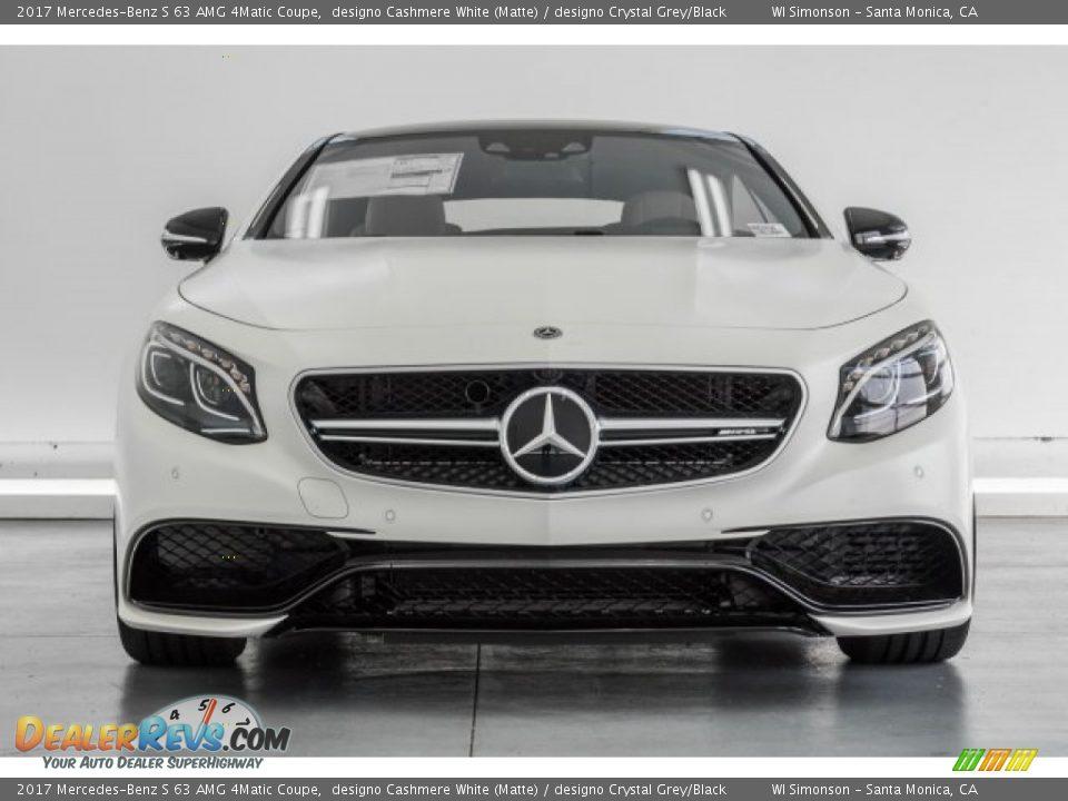 2017 Mercedes-Benz S 63 AMG 4Matic Coupe designo Cashmere White (Matte) / designo Crystal Grey/Black Photo #2