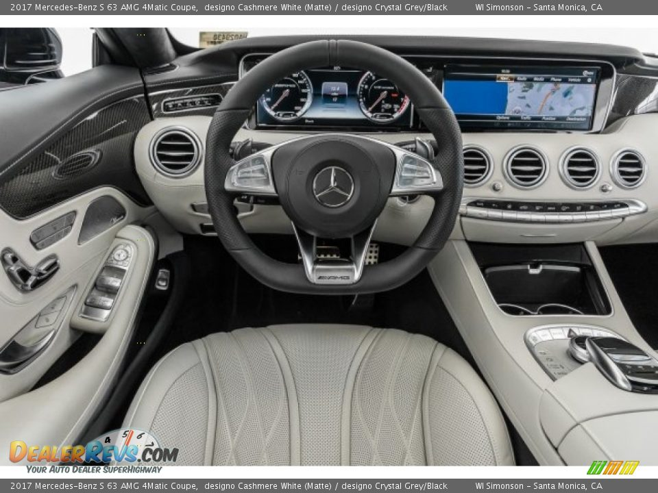 Dashboard of 2017 Mercedes-Benz S 63 AMG 4Matic Coupe Photo #4