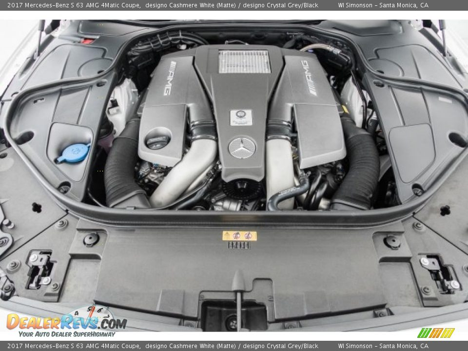 2017 Mercedes-Benz S 63 AMG 4Matic Coupe 5.5 Liter AMG biturbo DOHC 32-Valve VVT V8 Engine Photo #9