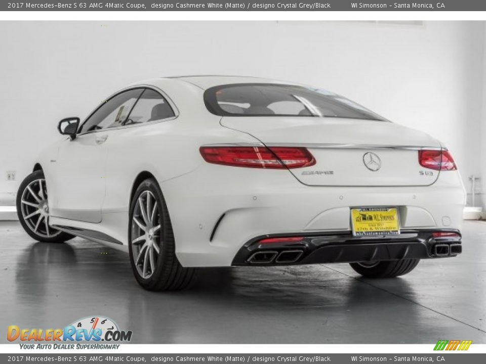 2017 Mercedes-Benz S 63 AMG 4Matic Coupe designo Cashmere White (Matte) / designo Crystal Grey/Black Photo #10