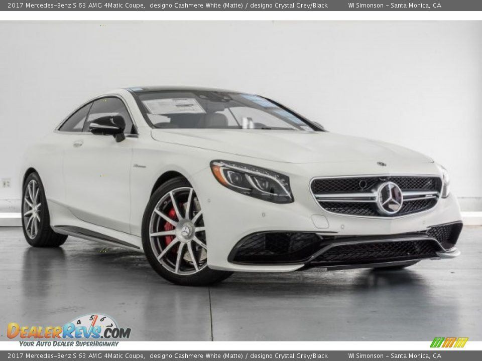 Front 3/4 View of 2017 Mercedes-Benz S 63 AMG 4Matic Coupe Photo #12