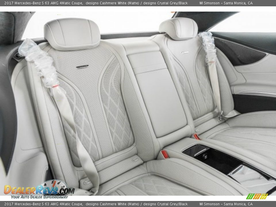 Rear Seat of 2017 Mercedes-Benz S 63 AMG 4Matic Coupe Photo #14