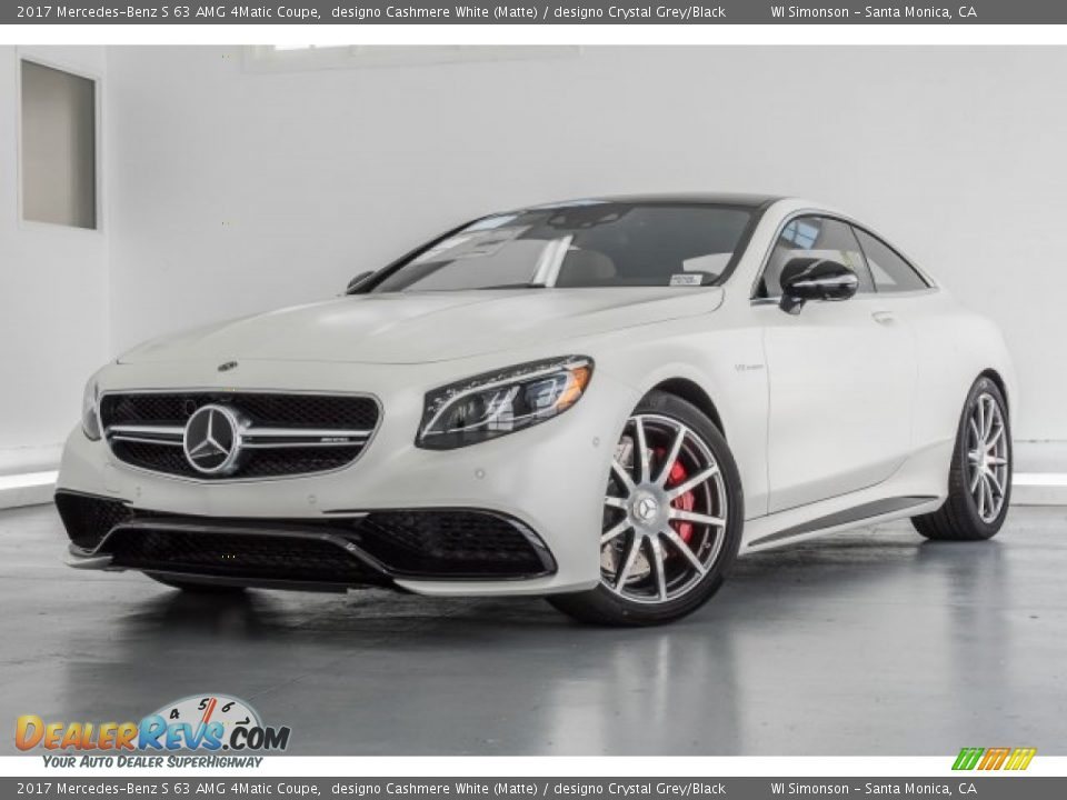 designo Cashmere White (Matte) 2017 Mercedes-Benz S 63 AMG 4Matic Coupe Photo #15