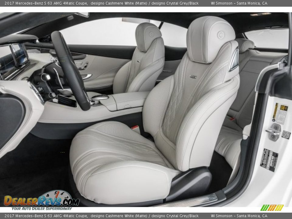Front Seat of 2017 Mercedes-Benz S 63 AMG 4Matic Coupe Photo #16