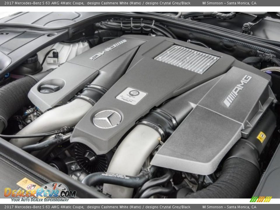 2017 Mercedes-Benz S 63 AMG 4Matic Coupe 5.5 Liter AMG biturbo DOHC 32-Valve VVT V8 Engine Photo #30