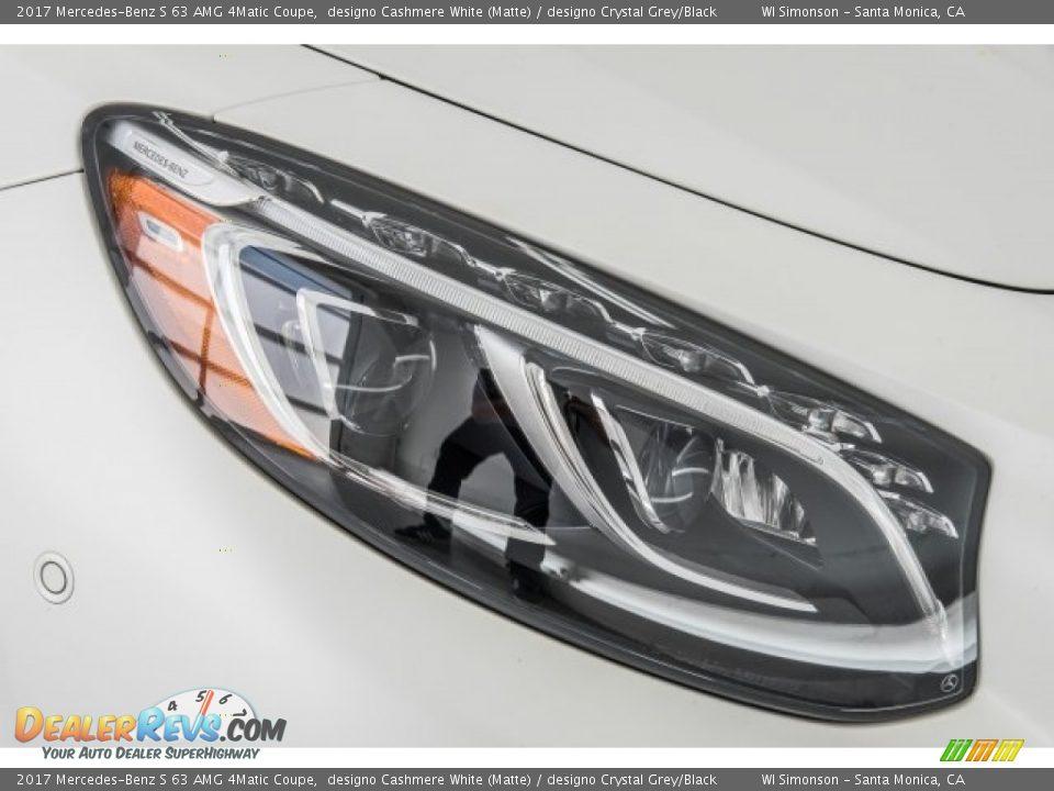 2017 Mercedes-Benz S 63 AMG 4Matic Coupe designo Cashmere White (Matte) / designo Crystal Grey/Black Photo #31
