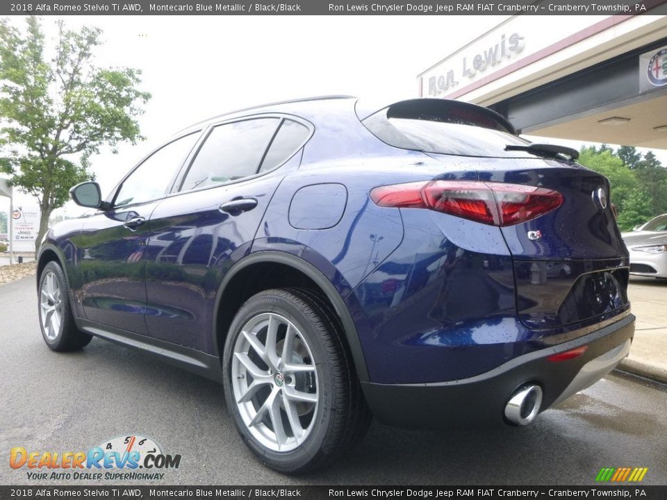 2018 Alfa Romeo Stelvio Ti AWD Montecarlo Blue Metallic / Black/Black Photo #5