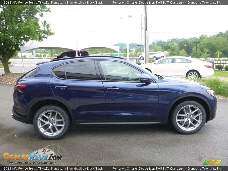 Montecarlo Blue Metallic 2018 Alfa Romeo Stelvio Ti AWD Photo #9