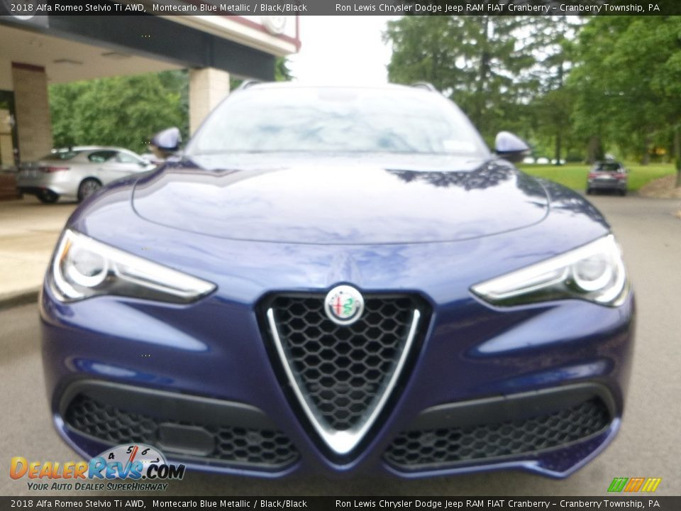 2018 Alfa Romeo Stelvio Ti AWD Montecarlo Blue Metallic / Black/Black Photo #12
