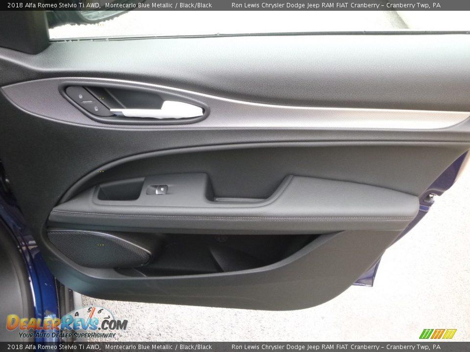 2018 Alfa Romeo Stelvio Ti AWD Montecarlo Blue Metallic / Black/Black Photo #14