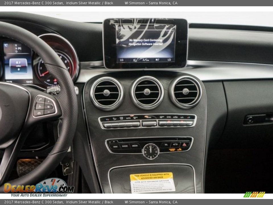 2017 Mercedes-Benz C 300 Sedan Iridium Silver Metallic / Black Photo #5