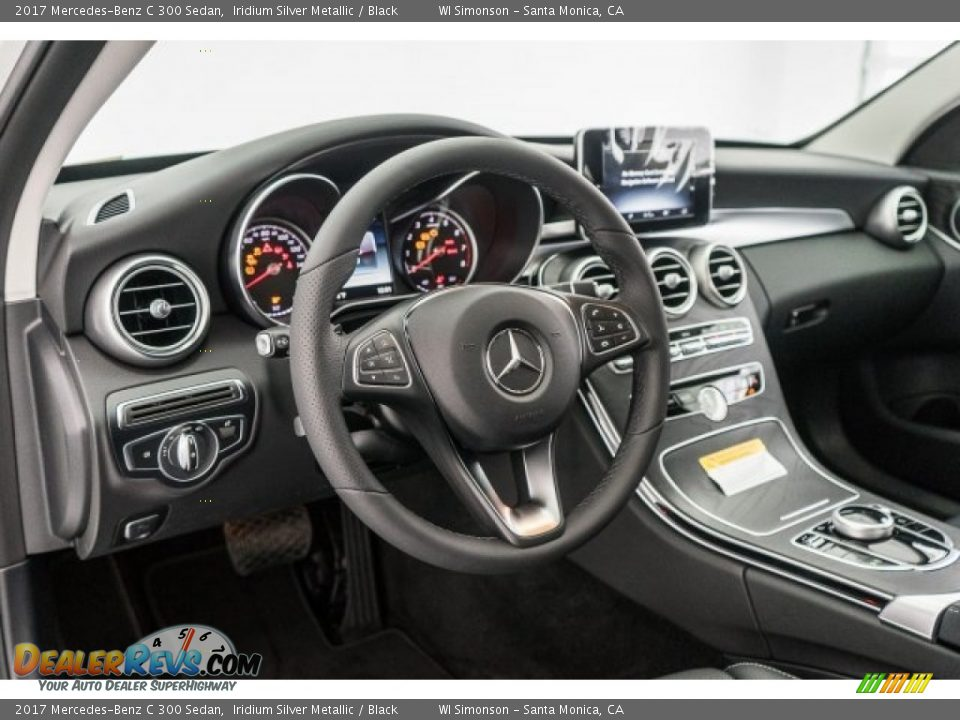 2017 Mercedes-Benz C 300 Sedan Iridium Silver Metallic / Black Photo #6