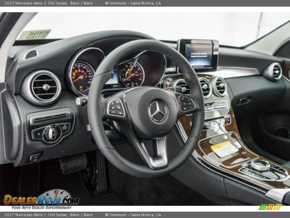 2017 Mercedes-Benz C 300 Sedan Black / Black Photo #6