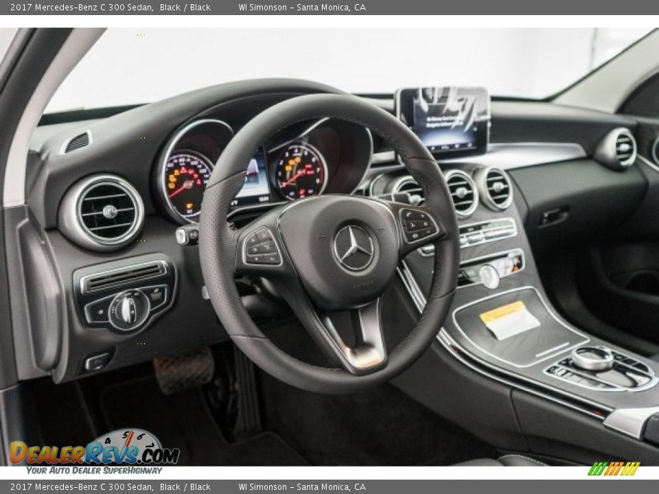 2017 Mercedes-Benz C 300 Sedan Black / Black Photo #5