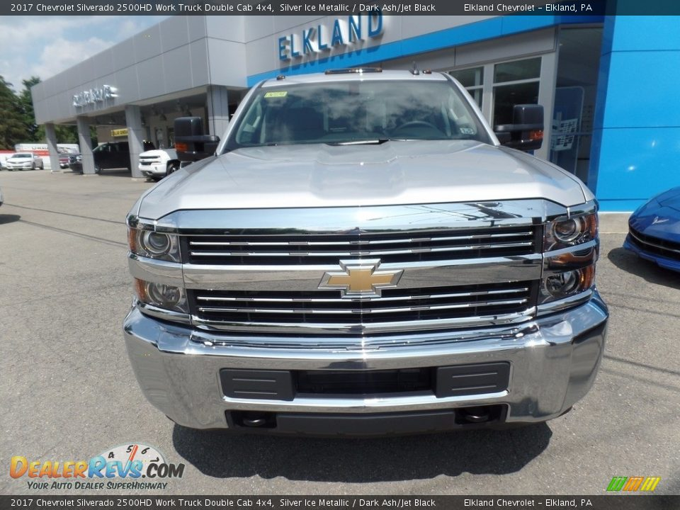 2017 Chevrolet Silverado 2500HD Work Truck Double Cab 4x4 Silver Ice Metallic / Dark Ash/Jet Black Photo #2