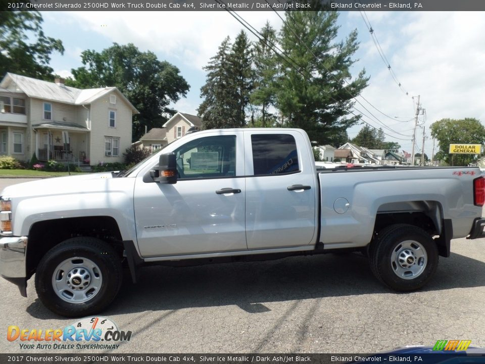 2017 Chevrolet Silverado 2500HD Work Truck Double Cab 4x4 Silver Ice Metallic / Dark Ash/Jet Black Photo #4