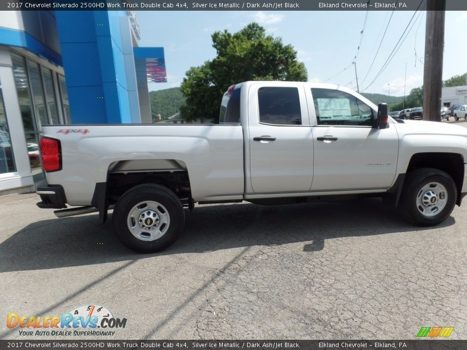 2017 Chevrolet Silverado 2500HD Work Truck Double Cab 4x4 Silver Ice Metallic / Dark Ash/Jet Black Photo #6