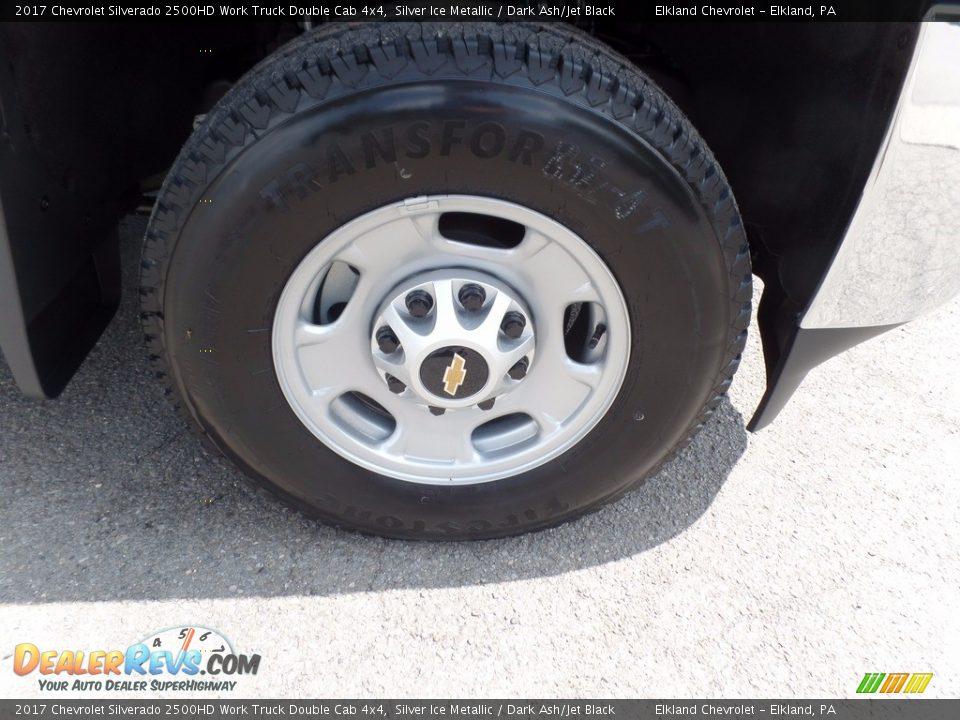 2017 Chevrolet Silverado 2500HD Work Truck Double Cab 4x4 Silver Ice Metallic / Dark Ash/Jet Black Photo #10
