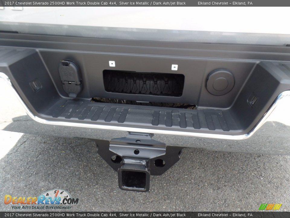 2017 Chevrolet Silverado 2500HD Work Truck Double Cab 4x4 Silver Ice Metallic / Dark Ash/Jet Black Photo #12
