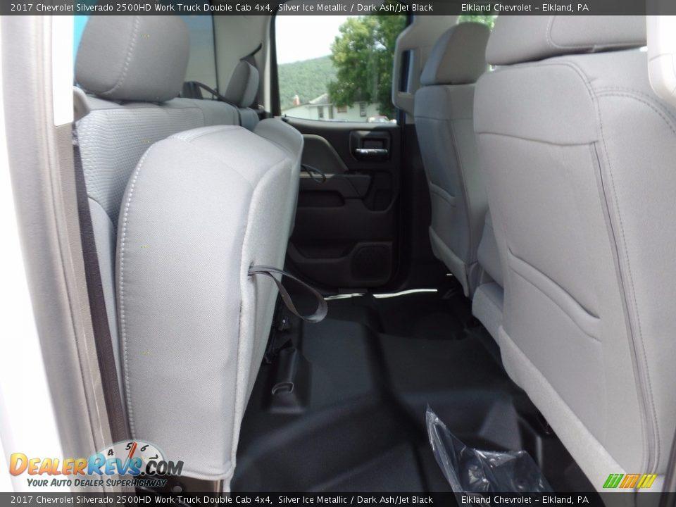 2017 Chevrolet Silverado 2500HD Work Truck Double Cab 4x4 Silver Ice Metallic / Dark Ash/Jet Black Photo #16