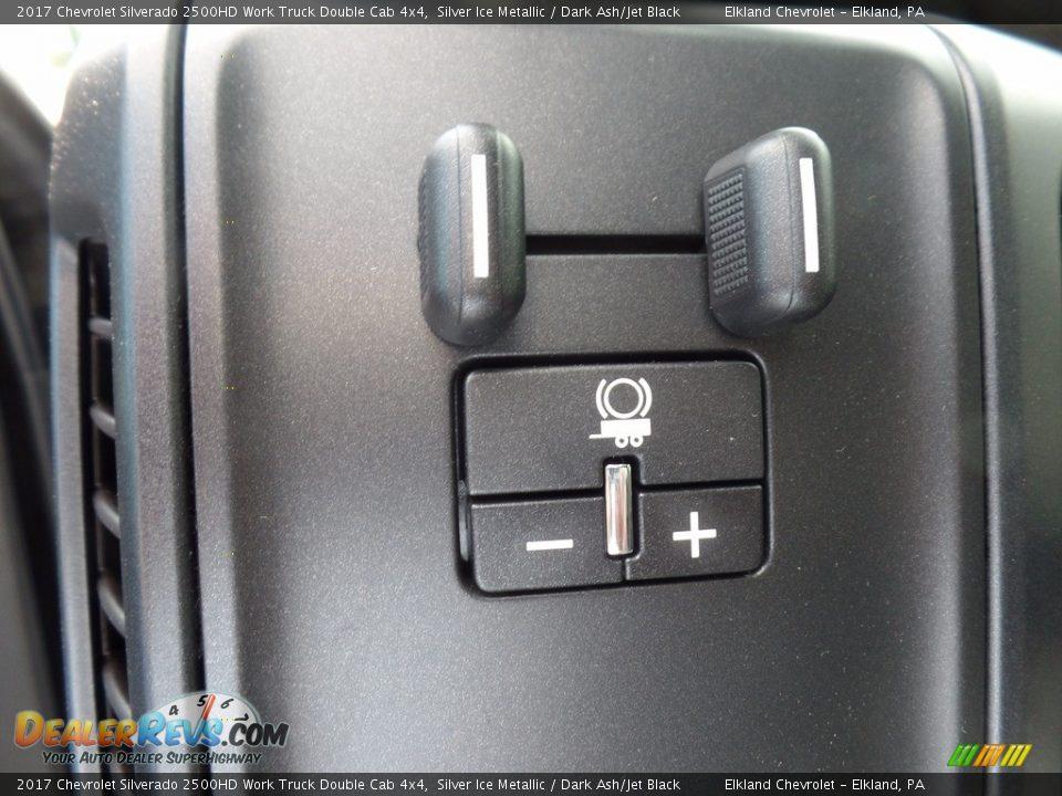 2017 Chevrolet Silverado 2500HD Work Truck Double Cab 4x4 Silver Ice Metallic / Dark Ash/Jet Black Photo #20