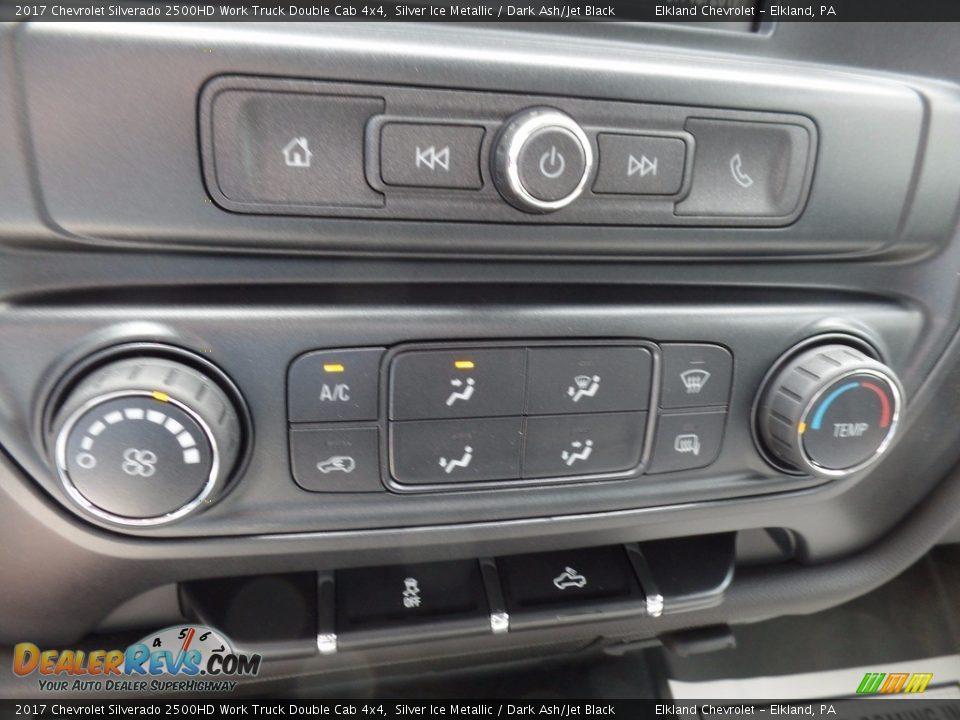 2017 Chevrolet Silverado 2500HD Work Truck Double Cab 4x4 Silver Ice Metallic / Dark Ash/Jet Black Photo #28