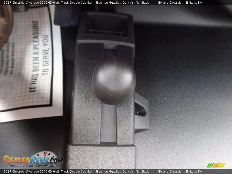 2017 Chevrolet Silverado 2500HD Work Truck Double Cab 4x4 Silver Ice Metallic / Dark Ash/Jet Black Photo #29