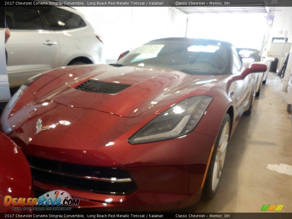2017 Chevrolet Corvette Stingray Convertible Long Beach Red Metallic Tintcoat / Kalahari Photo #1