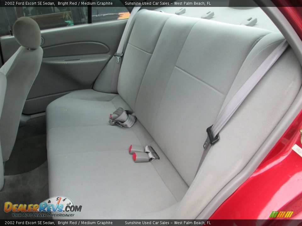 2002 Ford Escort SE Sedan Bright Red / Medium Graphite Photo #14