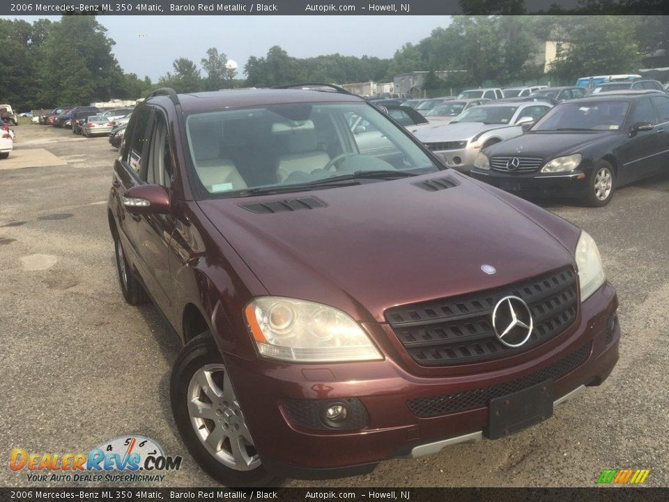 2006 Mercedes-Benz ML 350 4Matic Barolo Red Metallic / Black Photo #1