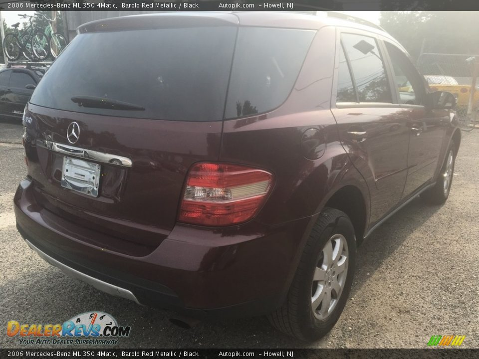 2006 Mercedes-Benz ML 350 4Matic Barolo Red Metallic / Black Photo #5