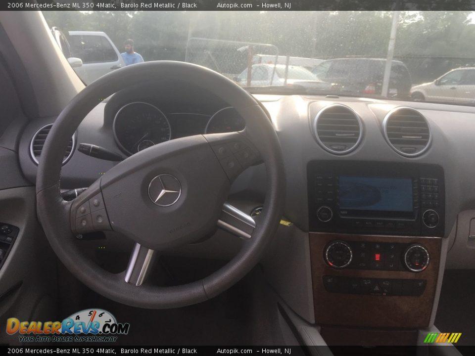 2006 Mercedes-Benz ML 350 4Matic Barolo Red Metallic / Black Photo #11