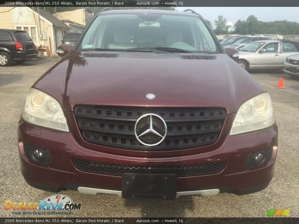 2006 Mercedes-Benz ML 350 4Matic Barolo Red Metallic / Black Photo #14