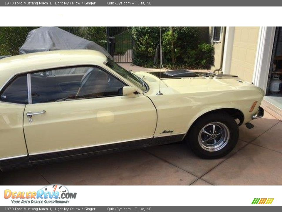 1970 Ford Mustang Mach 1 Light Ivy Yellow / Ginger Photo #3