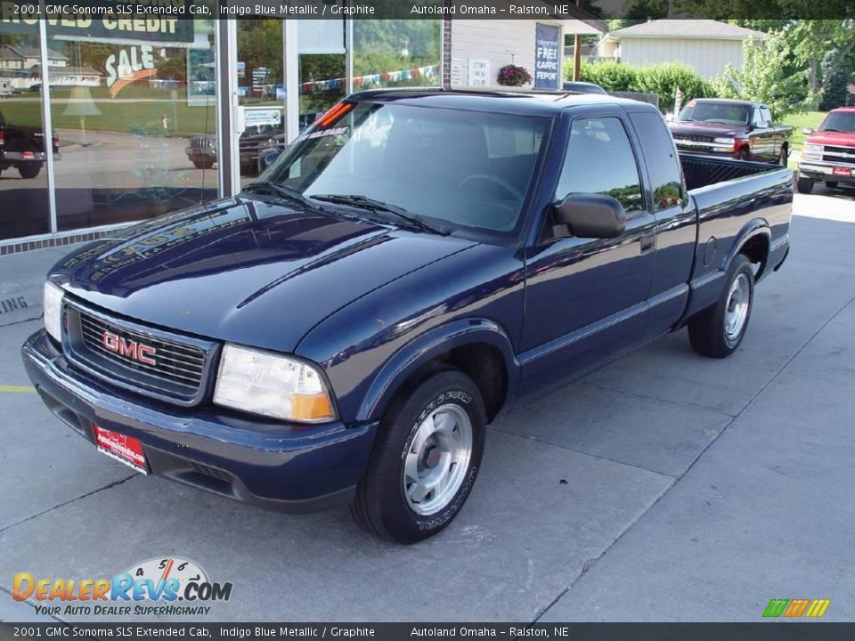2001 gmc sonoma sls extended cab indigo blue metallic graphite photo 3. Black Bedroom Furniture Sets. Home Design Ideas