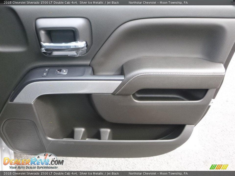 2018 Chevrolet Silverado 1500 LT Double Cab 4x4 Silver Ice Metallic / Jet Black Photo #10