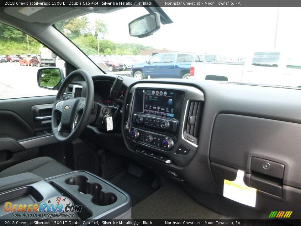 2018 Chevrolet Silverado 1500 LT Double Cab 4x4 Silver Ice Metallic / Jet Black Photo #12