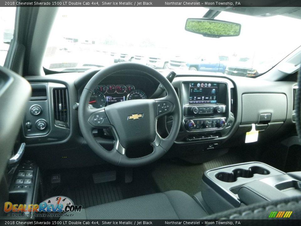 2018 Chevrolet Silverado 1500 LT Double Cab 4x4 Silver Ice Metallic / Jet Black Photo #15