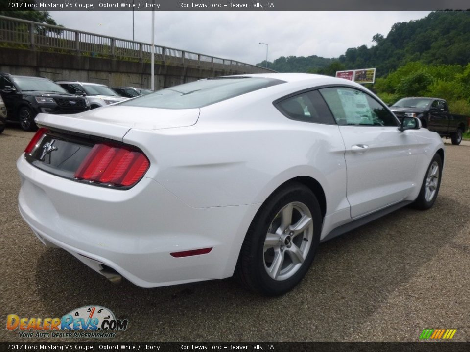 2017 Ford Mustang V6 Coupe Oxford White / Ebony Photo #2