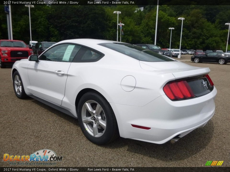 2017 Ford Mustang V6 Coupe Oxford White / Ebony Photo #4