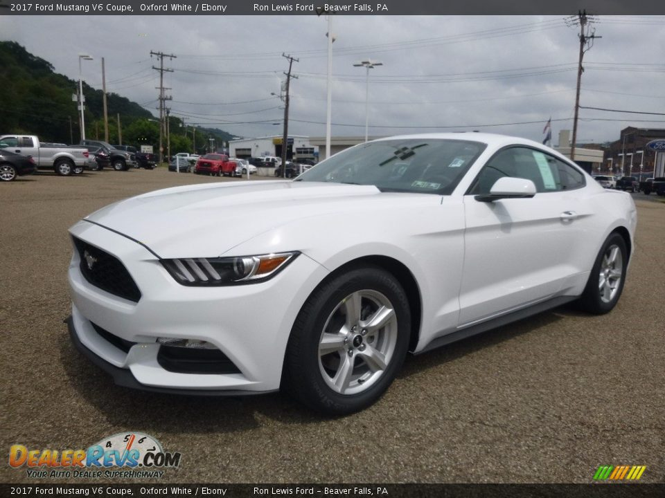 2017 Ford Mustang V6 Coupe Oxford White / Ebony Photo #6