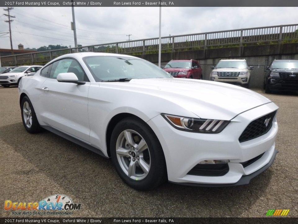 2017 Ford Mustang V6 Coupe Oxford White / Ebony Photo #9