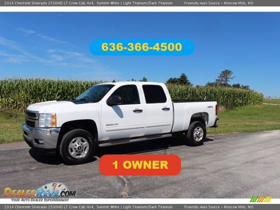 2014 Chevrolet Silverado 2500HD LT Crew Cab 4x4 Summit White / Light Titanium/Dark Titanium Photo #1