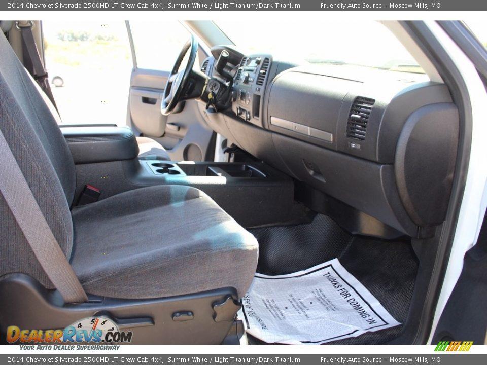 2014 Chevrolet Silverado 2500HD LT Crew Cab 4x4 Summit White / Light Titanium/Dark Titanium Photo #4
