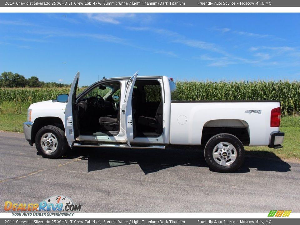 2014 Chevrolet Silverado 2500HD LT Crew Cab 4x4 Summit White / Light Titanium/Dark Titanium Photo #11
