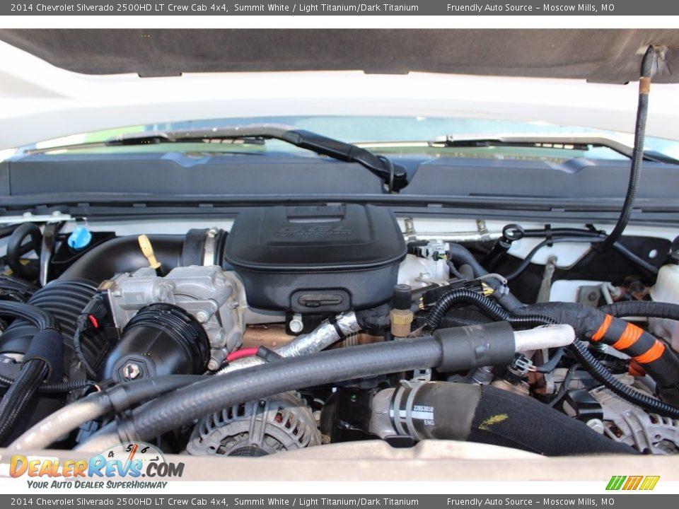 2014 Chevrolet Silverado 2500HD LT Crew Cab 4x4 Summit White / Light Titanium/Dark Titanium Photo #13